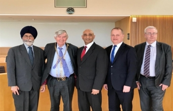 Next stop on Embassy outreach programme Wexford County. Ambassador met Mayor, Tony Dempsey, Chief Executive, Tom Enright, Deputy Chief Executive, Tony Larkin, Chamber of Commerce representatives and Indian community. Made site visit to Wexford General Hospital with 33 Indian nurses together with Indian doctors amp consultants. Encouraged to discover an Indian company, MSSL Ireland Pvt Ltd in Wexford, distribution hub for wiring harnesses. Also met with local TD and Minister of State for Defence, Paul Kehoe. Both India and Ireland have made significant contribution to International peacekeeping.