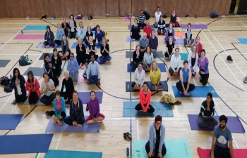 Enthusiastic celebration of International Day of Yoga 2019 in Letterkenny, organised by Healing Flow Yoga, supported by Indian community. Thank you for being part of the journey