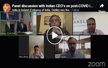 Panel Discussion with Indian CEO's on India-Ireland Economic Collaboration 2020