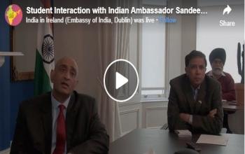 Ambassador's Facebook interaction with students across Ireland- 2020