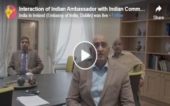 Ambassador's Facebook interaction with community members across Ireland- 2020
