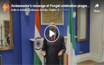 Ambassador's message at Pongal celebration programme by Ireland Tamil Sangamam