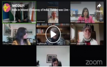 Webinar organized by Indian Embassy to commemorate International Women's Day