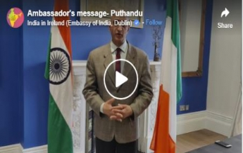 Ambassador's message of greetings to Ireland Tamil Sangam on the occasion of Puthandu, Tamil New Year